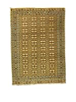 L'Eden del Tappeto Alfombra Yomud Verde / Beige 291  x  210 cm