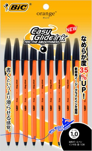 BIC ビックオレンジミディアムEG1.0黒 1.0mm 10本入 OR10BLK10P