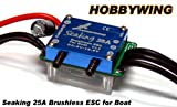 HOBBYWING SEAKING 25A Water Cool RC Model Ship Brushless Motor ESC SL182 with RCECHO Full Version Apps Edition