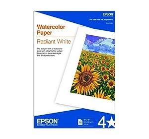 Amazon.com : Epson Watercolor Paper Radiant, White, 13 x