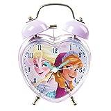 Claire's Accessories Disney Frozen Twin Bell Heart Shaped Alarm Clock
