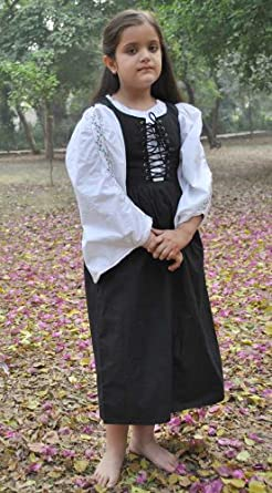 Child's Renaissance Medieval Costume Dress (Large (9-11 yrs))