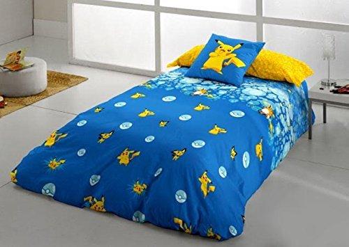 Pokemon-Juego-de-Funda-nordica-Pikachu-Evolution-para-cama-de-90-cm-3-piezas