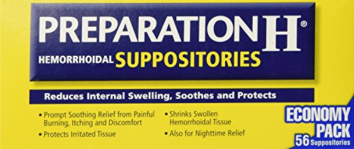 Preparation H Hemorrhoidal Suppositories ~ 56 Count