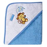 Luvable Friends Umbrella Animal Hooded Towel - Woven Terry, Blue