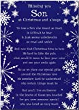 Grave Card - Missing You Son At Christmas And Always - Free Card Holder - C107
