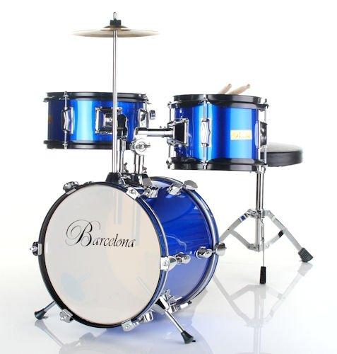 best price barcelona three piece 12 inch kid 39 s drum set blue on sale drum sets. Black Bedroom Furniture Sets. Home Design Ideas