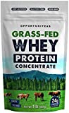 Grass Fed Whey Protein Powder Concentrate | Unflavored + Undenatured + Non GMO + Gluten Free | 1 lb