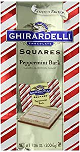 Ghirardelli Chocolate Squares, Peppermint Bark, 7.06 oz., 3 Count