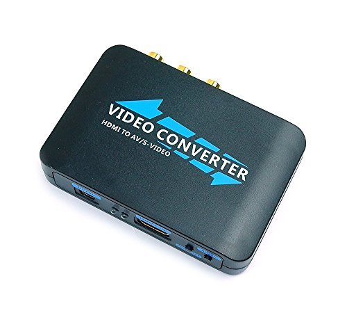 Mondpalast® HDMI vers Composite RCA CVBS , S-Video vidéo audio convertisseur adaptateur HDTV