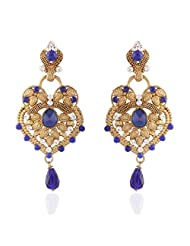 I Jewels Tradtional Gold Plated Elegantly Handcrafted Pair Of Fashion Earrings For Women. - B00N7INC5C
