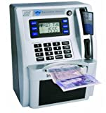 Kids ATM Savings Bank Gadget Money Box Machine - Silver