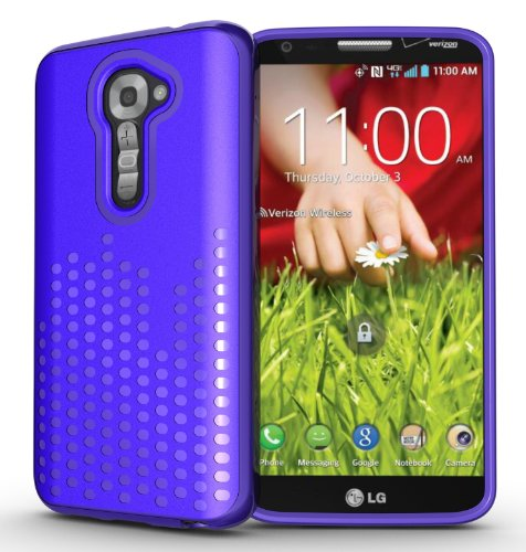 Tudia Ultra Slim Melody Series Tpu Protective Case For Lg G2 (For Verizon Only) - Purple