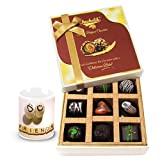 Beauty & Sweet Dark Chocolate Treats With Friendship Mug - Chocholik Luxury Chocolates
