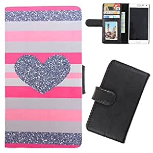 DooDa - For Nokia Lumia 1520 PU Leather Designer Fashionable Fancy Flip Case Cover Pouch With Card, ID & Cash Slots And Smooth Inner Velvet With Strong Magnetic Lock