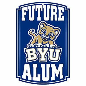 Buy NCAA Brigham Young Cougars 11-by-17 Wood Sign Traditional Look by WinCraft