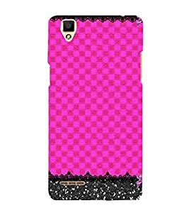 Pink Color Pattern 3D Hard Polycarbonate Designer Back Case Cover for Oppo F1