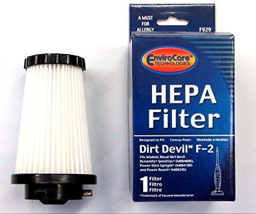 3 DIRT DEVIL F2 HEPA FILTERS (Dirt Devil Vacuum Power Stick compare prices)