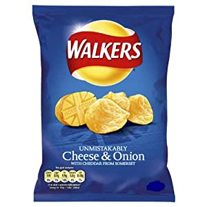 Amazon.com: WALKERS CHEESE AND ONION CRISPS PACK OF 20 BAGS