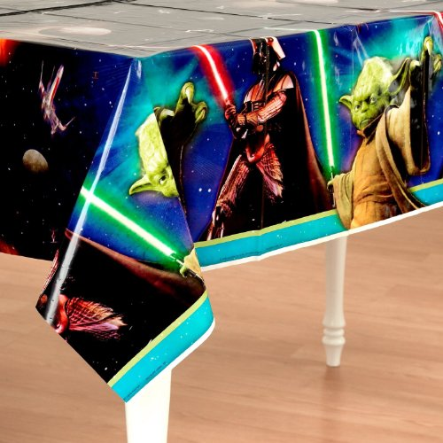 Star Wars Feel The Force 3D Plastic Birthday Tablecover