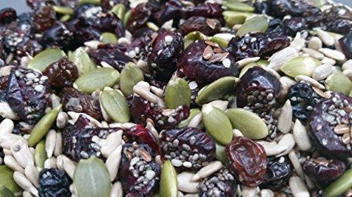 Raw Pumpkin, Sunflower, Chia, Hemp, Flax Seeds & Blueberries, Cranberries, Raisins - 2 LBS Premium Grade Seed & Dried Fruit Mix - Top 10 Allergen Free & NON GMO - Sulfur Dioxide & Potassium Sorbate Free - Packaged in Rhode Island