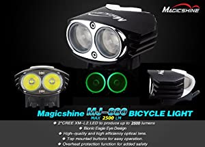 【Cree XM-L U2 搭載】超軽量小型 マジックシャイン 自転車用 LEDライト *Magicshine MJ-880 U2*2200ルーメン 【防水仕様】