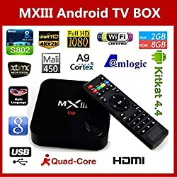 MXIII G Gigabit Bluetooth Android 5.1 Smart TV Box 4K Amlogic S812 Quad Core 2G RAM 16G ROM HDMI Dual WIFI