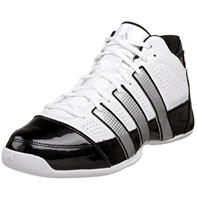 adidas Men's Commander Lite TD Basketball Shoe,Running White/Metallic Silver/Black,10 D US