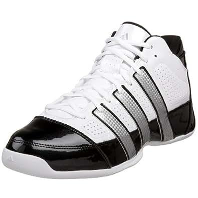 adidas Men's Commander Lite TD Basketball Shoe,Running White/Metallic Silver/Black,8 D US
