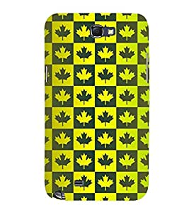 MULTICOLOURED TRADITIONAL LEAVES PATTERN 3D Hard Polycarbonate Designer Back Case Cover for Samsung Galaxy Note 2 :: Samsung Galaxy Note 2 N7100