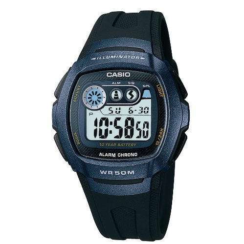 Casio W-210-1BVES Mens Digital Resin Strap Watch