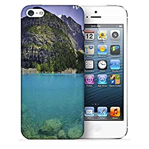 Snoogg Light Blue Water Printed Protective Phone Back Case Cover For Apple Iphone 5 / 5S