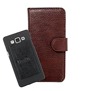 DooDa PU Leather Wallet Flip Case Cover With Card & ID Slots For Coolpad Dazen 1 - Back Cover Not Included Peel And Paste