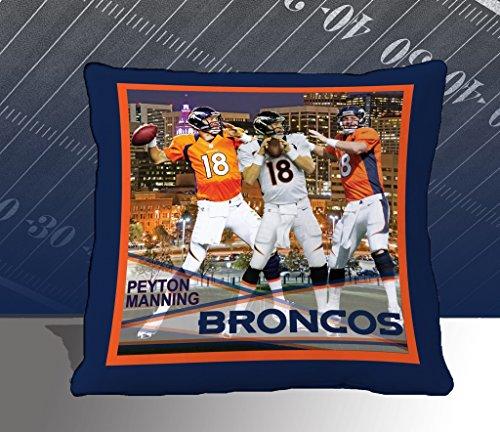 Nfl Biggshots Bedding - Denver Broncos Peyton Manning Toss Pillow, 18-Inch front-417863