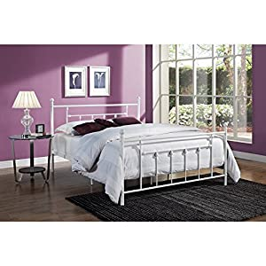 Metro Shop Manila White Metal Bed Frame-White - Twin