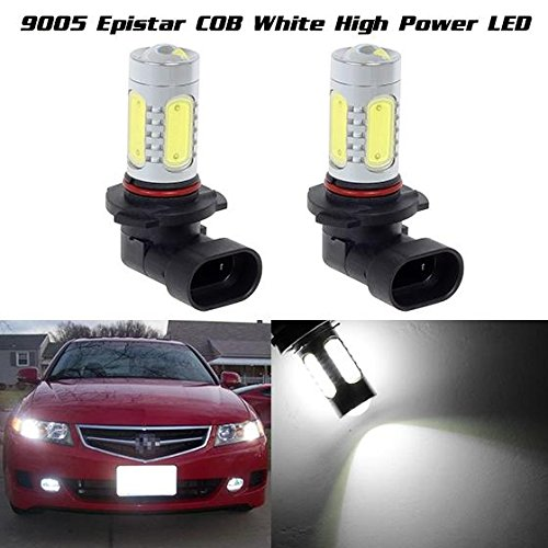 Partsam 2x Fog Light Driving Bulbs Aluminum High Power White 6000k Epistar COB Chip Car Led 9005 9145 H10 Daytime Running Light DRL Bulbs (04 Pilot Fog Lights compare prices)