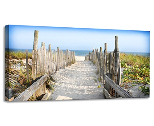 Youkiswall-Art-Mk0811-Canvas-Print-for-Home-Decorationframed-Ready-to-Hang-40w-X-20h-By-1-Panels-Elephant-Walking-on-the-Road-Painting-Wall-Art-Beach-Road-Picture-Print-on-Canvas