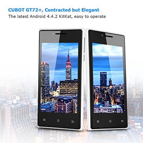 Cubot 3G-Smartphone 4,0 Zoll Dual Core Dual SIM Handy ohne Vertrag 4GB Android 4.4.2 KitKat WIFI 1.2GHz 2 Kameras Weiß