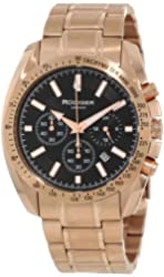 Rudiger Men's R1000-09-007 Dresden Rose Gold IP Black Luminous Dial Chronograph Tachymeter Watch