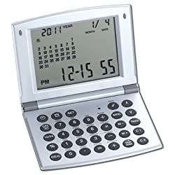 Natico Multifunctional World time Clock, Calendar and Calculator (10-WT208)