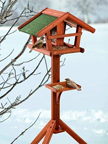 BUSDUGA-Vogelhaus-Futterhaus-aus-Holz-mit-Futtersilo-121-x-46-x-30cm-sehr-leichter-Aufbau