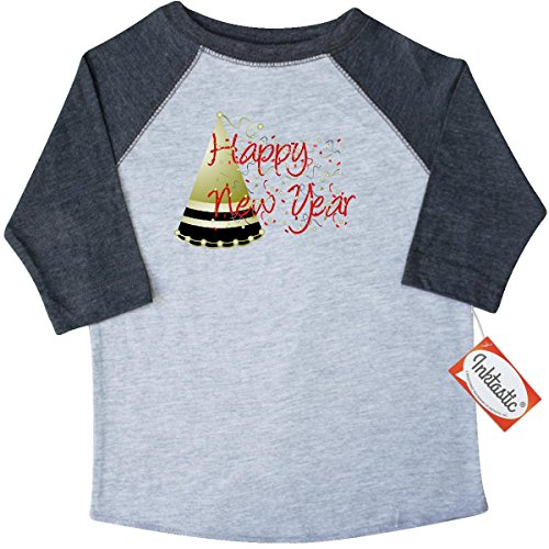 Inktastic Little Boys' Happy New Year Toddler T-Shirt 3T 3/4 Sleeve Heather Smoke