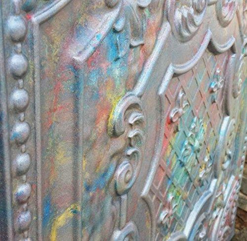 PL04 dalles de plafond finition similicuir Relief en vieux Superbe décoration Café pub shop 10pieces/Panneaux muraux lot
