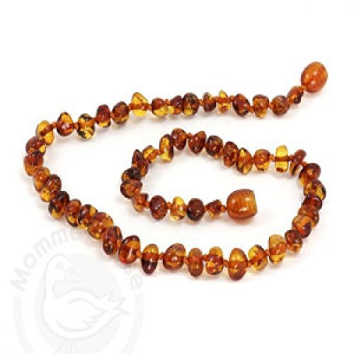 Momma Goose Amber Baby Baroque Necklace - Cognac (Medium) - 1