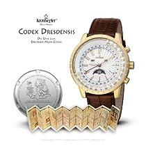 "Kronsegler ""Codex Dresdensis"" Maya Calendar Watch gold - silverwhite"