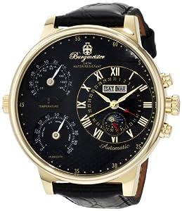 Burgmeister Montana BM309-222 - Reloj de caballero automático, correa de piel color negro