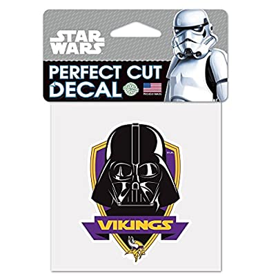 Minnesota Vikings Official NFL 4 inch x 4 inch Star Wars Darth Vader Die Cut Car Decal by Wincraft 401328