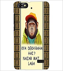 PrintDhaba Funny Quote D-4303 Back Case Cover for HUAWEI HONOR 4C (Multi-Coloured)