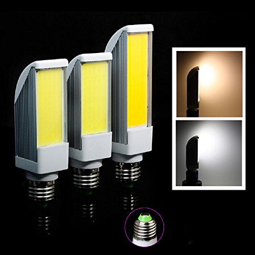 Gled® Newest E27 7W Cob Led Light Warm White Horizontal Plug Lamp Bulb