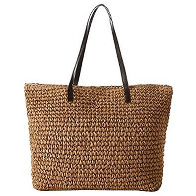 e6bad55765eced Amazon Womens Summer Purses. Women's Classic Straw Summer Beach Sea  Shoulder Bag Handbag Tote: Handbags